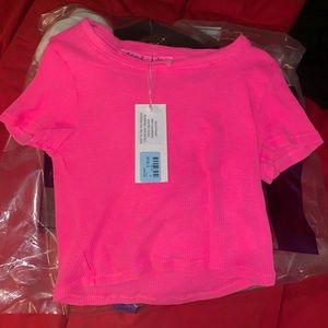 LF Hot Pink Crop Top